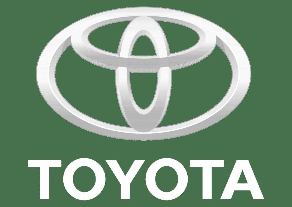 Toyota White Logo